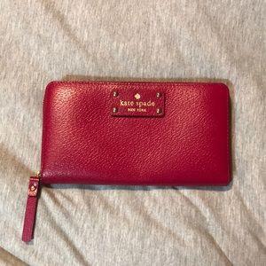 Kate Spade Wellesley Neda Zip Around Wallet Red